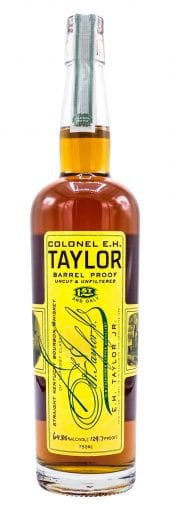 E.H. Taylor Bourbon Whiskey Barrel Proof, Uncut and Unfiltered 750ml