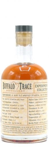 2007 Buffalo Trace Experimental Collection Wheated Bourbon Whiskey 12 Year Old, 2020 Release 375ml