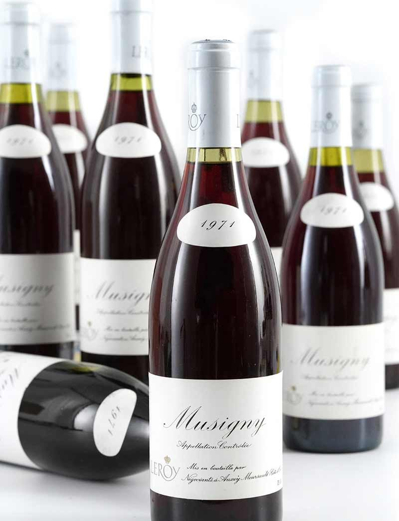 Lot 373: 12 bottles  1971 Maison Leroy Musigny