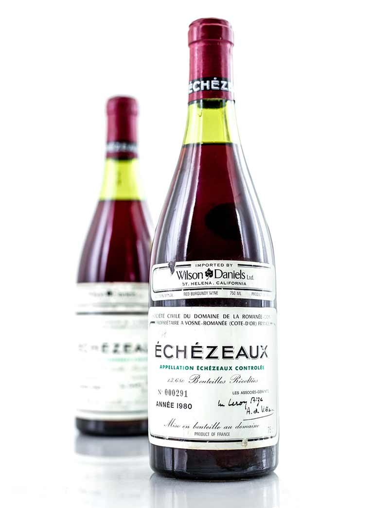 Lot 40: 2 bottles 1980 DRC Echezeax
