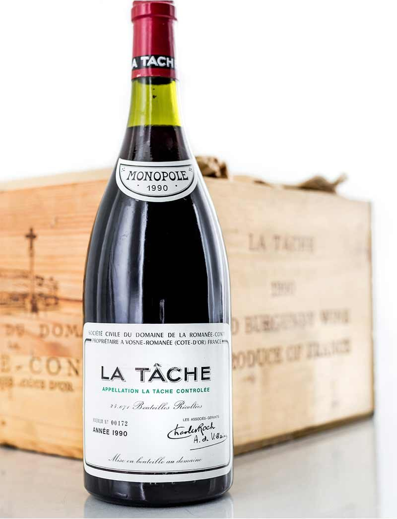 Lot 898: 6 magnums 1990 DRC La Tache in OWC