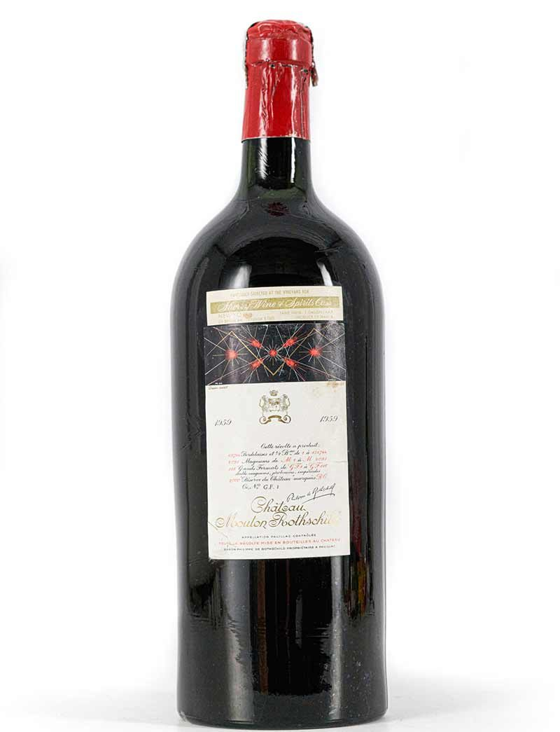 Lot 949: 1 Jeroboam 1959 Chateau Mouton Rothschild