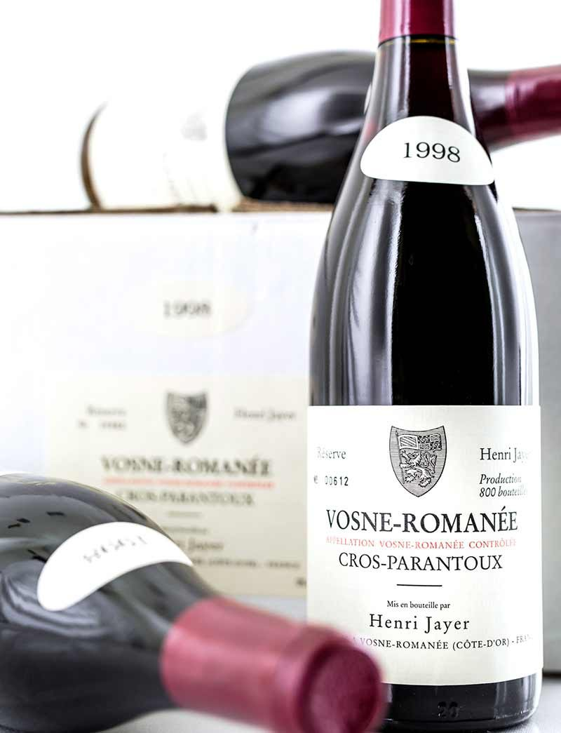 Lot 978: 12 bottles 1998 H. Jayer Vosne Romanee Cros Parantoux in OCB